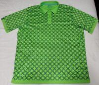 Men's Size Large Slazenger Polo Golf Shirt Bright Green