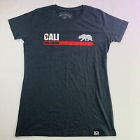 California Womens T Shirt Real Colors Grey Tee