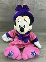 """Disney Parks Minnie Mouse Pink/Purple Wizard Believe In Magic 2013 17"""" Plush"""