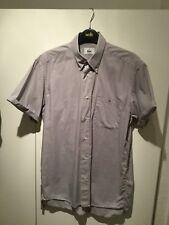 Lacoste Mens Denim Shirt 38 Grey