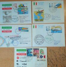 5 First Flight Covers  Aerogramme -  Italia Italien - Primo Volo