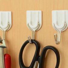 6PCS Crochet Adhésif Forme U Crème Sur Mur Clips Vêtements Hanger Hook #