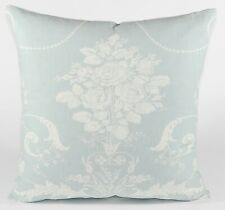 "New Laura Ashley Fabric Cushion Cover 20"" Josette Duck Egg  Floral Linen Mix"