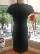 THIERRY MUGLER BLACK ZIP FRONT DRESS SIZE 40 US 8 (DR100