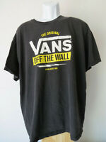 "VANS OFF THE WALL Black tee shirt xxl 2xl men's skate skater ""since 1966"" bolt"