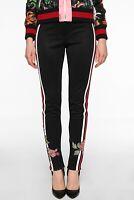 Gucci Web Stripe Floral Stirrup Track Pants Runway Leggings Size Medium $1800