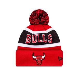 Youths Chicago Bulls New Era NBA Team Wordmark Knit Beanie - Red