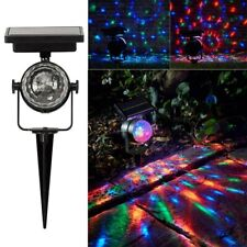 LED Solar Rotating Projection Light Garden Lawn Party Stage Colorful Spike Lamp