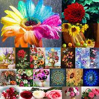 Full Drill 5D DIY Diamond Painting Flower Embroidery Cross Stitch Kit Home Decor