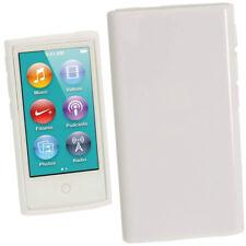 BIANCO GLOSSY TPU Gel Custodia per Nuovo Apple iPod Nano 7a Generazione 7G Cover Guscio