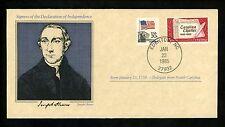 US Cover Signers  Declaration of Independence Joseph Hewes North Carolina NC