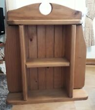 Solid country pine shelf stand bathroom kitchen free standing or hanging