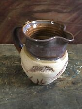 Studio Pottery Handmade  Pitcher ~ Signed  ~ Glazed And Natural Clay