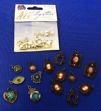 Lot of 20 CHARMS & 5 CLASPS or 10 More Charms by Blue Moon Beads, Creativity Inc