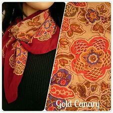 Chiffon Floral Vintage Scarves & Shawls