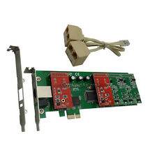 TDM410E 2FXO 2FXS Asterisk card Low profile PCI express card support trixbox