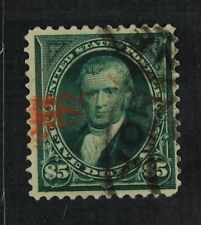 CKStamps: US Stamps Collection Scott#278 $5 Marshall Used Tiny Thin