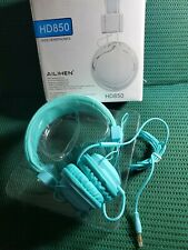 Ailihen Hd 850 Turquoise Headphones. Flexible Material wire