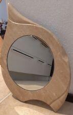Specchio circolare mini fatto a mano in Bianco di Orosei