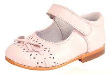 DE OSU B-7037 - Baby Girls Pink Leather Mary Jane Dress Shoes - Euro 19 Size 4