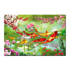 Modern Home Decor Wall Art Abstract Feng Shui Koi Fish Painting Print on Canvas
