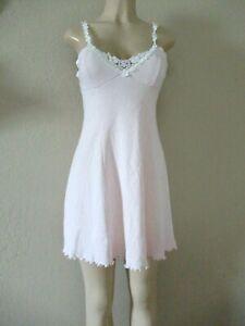 Vintage 90's Victoria's Secret Cotton Blend Chemise slip Nightgown size S pink