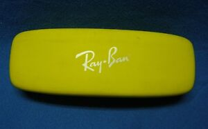 Ray-Ban Yellow Hard-Shell Sunglasses Case Red Interior