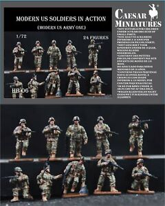 Caesar Miniatures 1/72 Modern US Soldiers in Action # B11