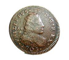 NAPOLI (Filippo V Borbone di Spagna) GRANO 1703-RR.