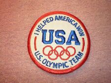 "NOS - ""I Helped America Win"" U.S. Olympic Team Patch - 3 Inch Round"