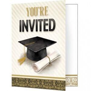 Graduation Classic Fold over Invitations – 8 Count
