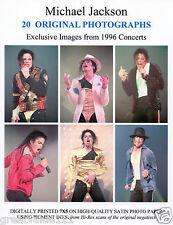 MICHAEL JACKSON PHOTOS SET OF 20  UNRELEASED 7INCHES X 5 COLOUR 1996 UNIQUE GEMS