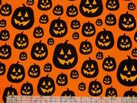 Robert Kaufman Eerie Alley Halloween Pumpkin Monsters Fabric