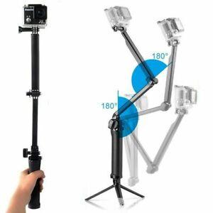 3in1 Selfie Stick Monopod Foldable for GoPro Hero 7 6 54 Tripod Holder Handheld
