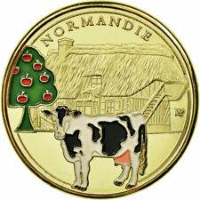 [#683614] France, Jeton, Jeton Touristique, Normandie - Vache normande