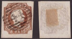 Portugal, 1856 issue 5 reis brown used      -DR40