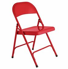 Habitat Macadam Red Metal Folding Chair.