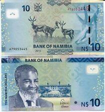 BRANDNEUE BANKNOTE  NAMIBIËN 10 Dollar 2015 U.N.C !!!