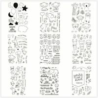 Clear Stamps Transparent Stamp Flower Mother's Day Baby Birth Animals DIY Craft