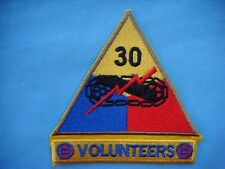 PATCH US 30th  ARMORED DIVISION VOLUNTEERS