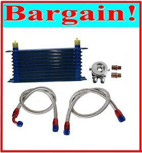 UNIVERSAL 10 ROW ENGINE OIL COOLER KIT for SUBARU IMPREZA WRX STI