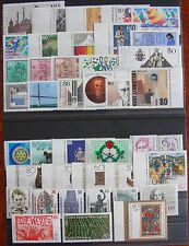 Germany Complete Year 1987 Stamp Set MNH German Stamps Mint Never Hinged