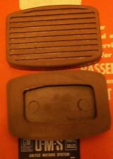 BUICK  OLDS PONTIAC NEW CLUTCH AND BRAKE PEDAL PADS 1936 to 1954 + Parts List
