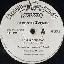 "SEVENTH AVENUE love's gone mad SOHOB 5 uk record shack 1986 12"" WS EX/"