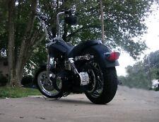 Harley Dyna Custom Vertical Rolled License Plate Relocator Bracket HD Street Bob