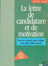 C1 Monnet LA LETTRE DE CANDIDATURE ET DE MOTIVATION