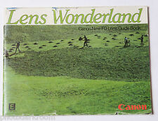 Canon FD Lens Wonderland Collection Sales Brochure - English - USED M8 AC