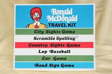 1974 Ronald McDonald McDonalds TRAVEL KIT CAR Game NEW OLD STOCK Never Used!!