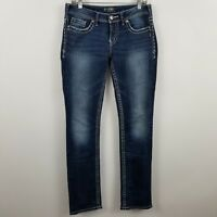 Silver Aiko Baby Boot Cut Women's Dark Wash Blue Jeans Size 28 x 33