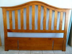 Natural Timber Queen Size Bed Headboard - 172 L x 130 H x 8 cm W